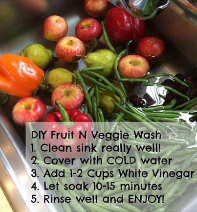 Do it yourself fruit and veggie wash